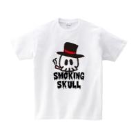 スモーキングスカル Tシャツ M ホワイト
