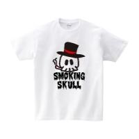 スモーキングスカル Tシャツ L ホワイト
