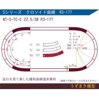 緩和曲線道床素材 NT-S-TC-C 22.5/30 R3-177 Oval