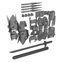 HGナハトAddon(腕周り&肩&武器)