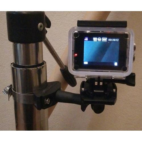 アクションカメラ等 取付アーム(市販アクセサリー取付ステー×2個付)