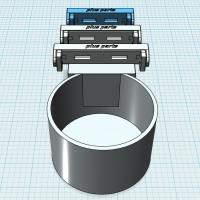 (汎用)市販ドリンクホルダー取付パーツ(~53mm幅用)
