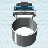 (汎用)市販ドリンクホルダー取付パーツ(~63mm幅用)