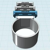 (汎用)市販ドリンクホルダー取付パーツ(~73mm幅用)
