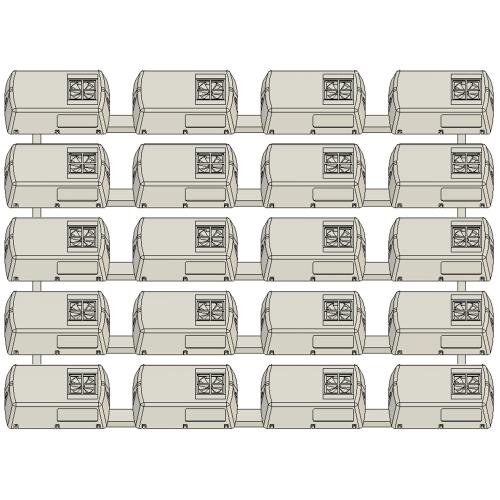 RPU-2204クーラー Nゲージ用5両セット【TKK8000/8500系ほか】