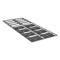1/150サイズ鉄道模型用 V用幌カバー開状態パーツ(8個入)