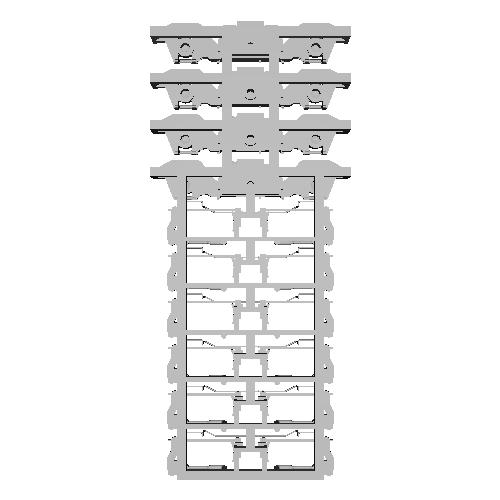 京急TS-806プレーン台車(1:80)日光製車輪向け