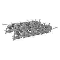 1/100 96式25粍単装高角機銃 ×16