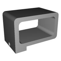 Feiyu G6用Gopro mic adaptorホルダー
