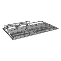Nゲージ鉄道模型用 床下機器(2両編成)