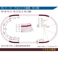 旧)緩和曲線道床素材 NTk-M-TC-C 18.3/22.5 R2-280 Oval