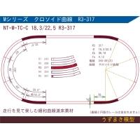 旧)緩和曲線道床素材 NTk-M-TC-C 18.3/22.5 R3-317 Oval