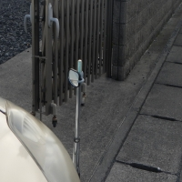 ミニ カーブミラー設置ベース(左側専用)