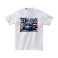 青いオープンカーTシャツ L アッシュ