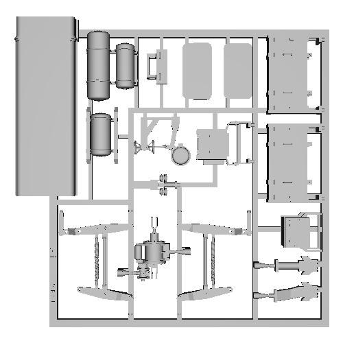 旧型客車用床下機器セット(OJゲージ 1:45)