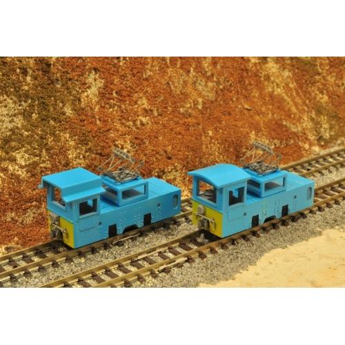 鉱山鉄道6t電気機関車(改造前・後2両セット)・ナローゲージ・Mine railway