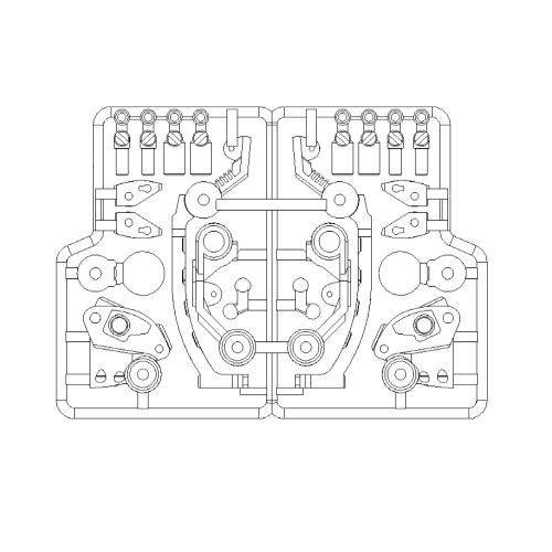 メガミデバイス用義肢HPT-LG003内部フレーム