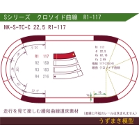 旧)緩和曲線道床素材 NK-S-TC-C 22.5 R1-117 Oval