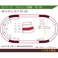 旧)緩和曲線道床素材 NK-S-TC-C 22.5 R3-183 Oval