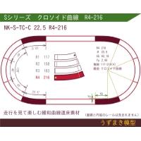 旧)緩和曲線道床素材 NK-S-TC-C 22.5 R4-216 Oval