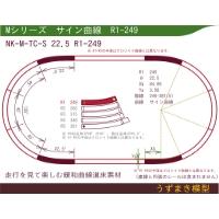 緩和曲線道床素材 NK-M-TC-S 22.5 R1-249 Oval
