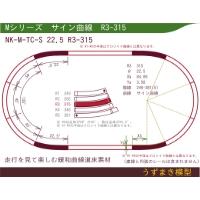 緩和曲線道床素材 NK-M-TC-S 22.5 R3-315 Oval