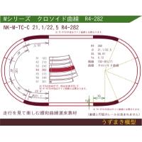旧)緩和曲線道床素材 NK-M-TC-C 21.1/22.5 R4-282 Oval