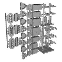 Nゲージ用信号機(点灯可能)トータルセット